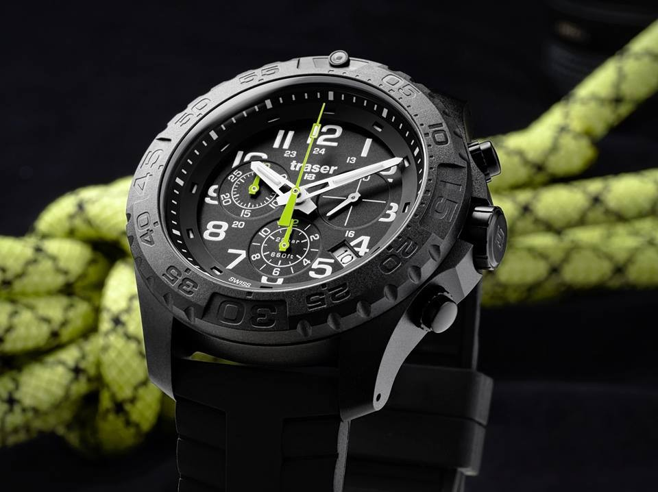 Traser outdoor pioneer chrono military grade watch extreme watches for Military grade watches